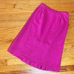 Vintage Wool Hot Pink Wiggle Pencil Skirt M